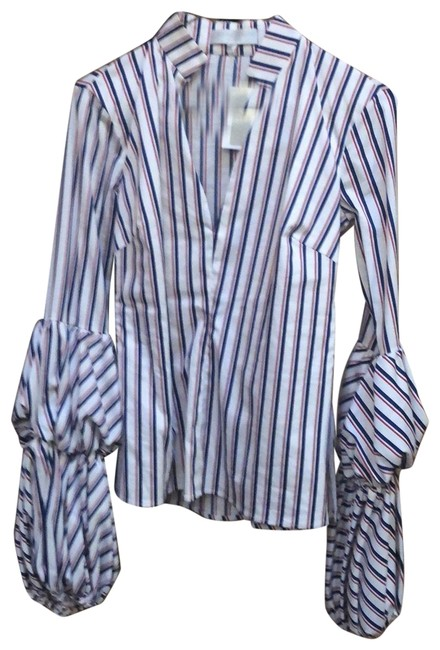 Item - Red and White and Blue Blouse Size 6 (S)