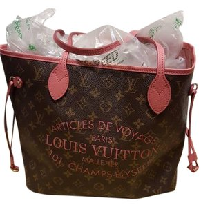 Louis Vuitton Tote in pink and brown
