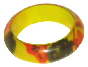 Forever 21 Yellow Floral Resin Bangle