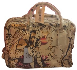 82eb4a574cff Prada IVORY HAND PAINTED FAIRY DESIGN MULTICOLOR Travel Bag
