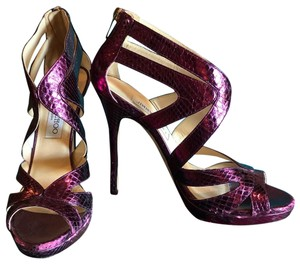 Jimmy Choo Purple Platforms