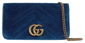 Gucci Marmont Double G Marmont Chain Marmont Quilted Mini Chain Cross Body Bag