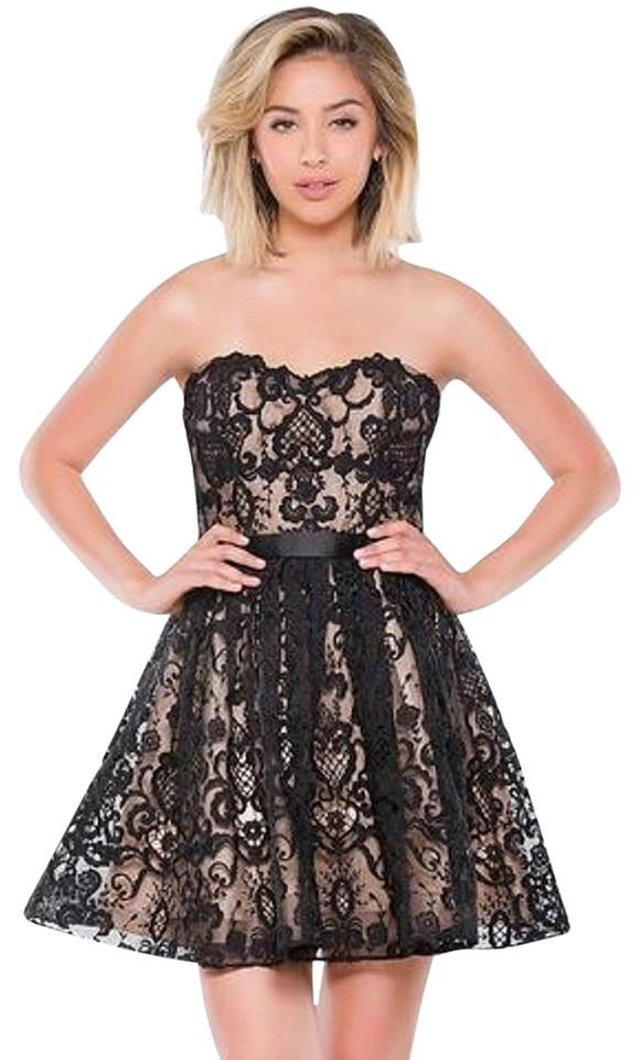 10e0a3b4b030 Jovani Black Jvn By 41424 Short Strapless Sweetheart In Cocktail ...