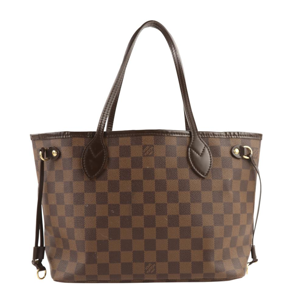 c131ad2d0 Louis Vuitton Neverfull Pm Damier Ebene Brown Canvas Tote - Tradesy