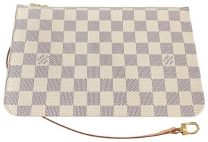 Louis Vuitton Clutch Wallets Pouch Lv Damier Handbags Wristlet in White