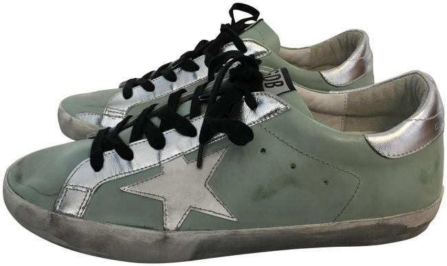 Item - Blue Classic Superstar Leather Off-white Distressed Mint Lace-up Sneakers Size EU 41 (Approx. US 11) Regular (M, B)