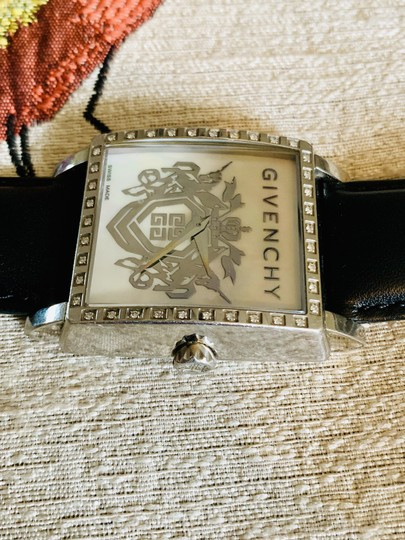 Givenchy Givenchy mother of pearl & Diamond leather strap watch Image 1