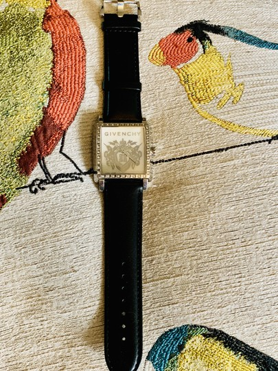 Givenchy Givenchy mother of pearl & Diamond leather strap watch Image 2