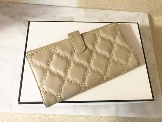Chanel Long light beige diamond quilted Lambskin Continental CC flap wallet Image 7