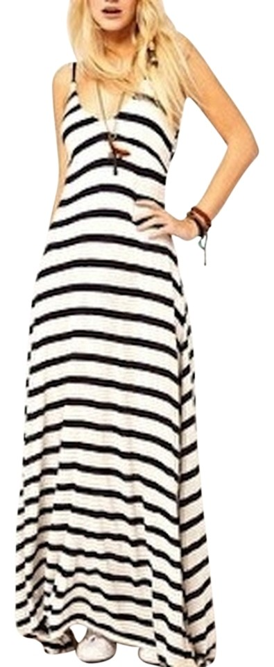cad749d6900 Ralph Lauren Multi Color Rugby Striped Long Casual Maxi Dress Size 6 ...