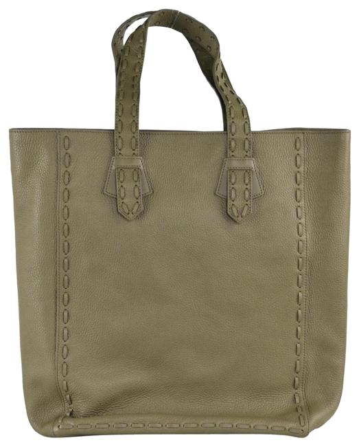 Item - Bag Women Green Grained Horse A869 Olive Leather Tote