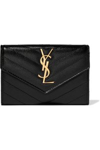 Saint Laurent Monogram Loulou YSL Quilted Black Leather Small Wallet