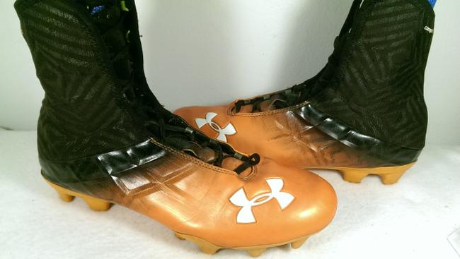 Item - Black Orange White Compfit Men's Full Length Football Cleat 11m Shoes