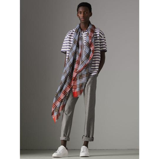 Burberry Check Wool Silk Scarf Image 1
