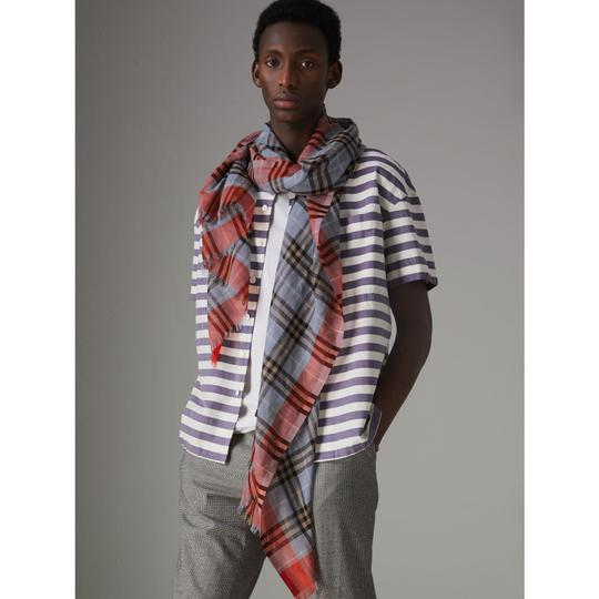 Burberry Check Wool Silk Scarf Image 2