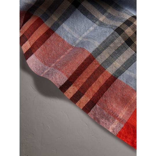 Burberry Check Wool Silk Scarf Image 3