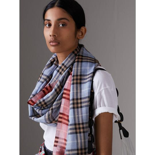 Burberry Check Wool Silk Scarf Image 4