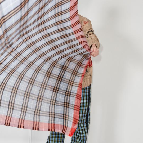 Burberry Check Wool Silk Scarf Image 5