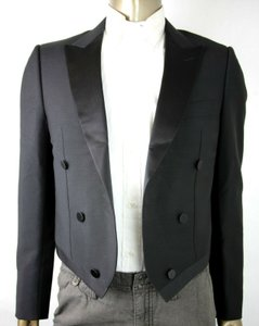 Gucci Black Wool Mohair Evening Jacket with Satin Lapel 56r/Us 46r 447867 Groomsman Gift