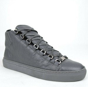 Balenciaga Dark Gray Men's Leather Arena Hi-top Sneaker 43/Us 10 412381 1505 Shoes