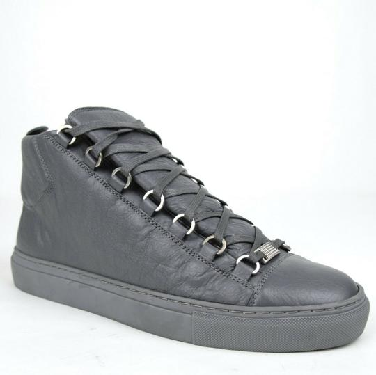 Preload https://img-static.tradesy.com/item/25392207/balenciaga-dark-gray-men-s-leather-arena-hi-top-sneaker-43us-10-412381-1505-shoes-0-0-540-540.jpg