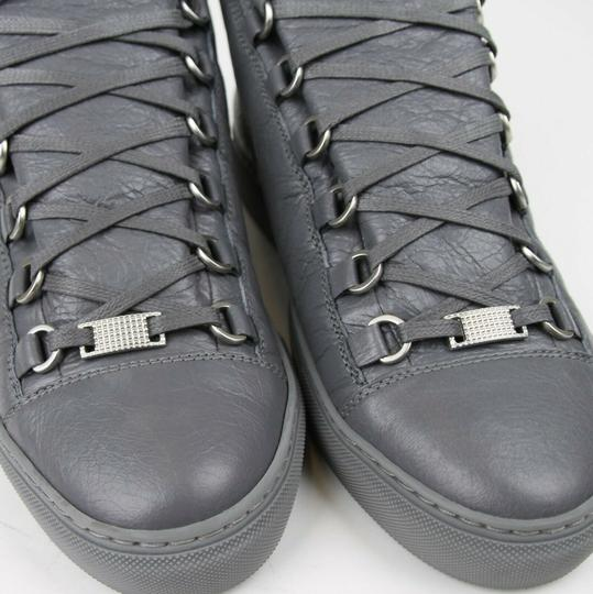 Balenciaga Dark Gray Men's Leather Arena Hi-top Sneaker 43/Us 10 412381 1505 Shoes Image 3