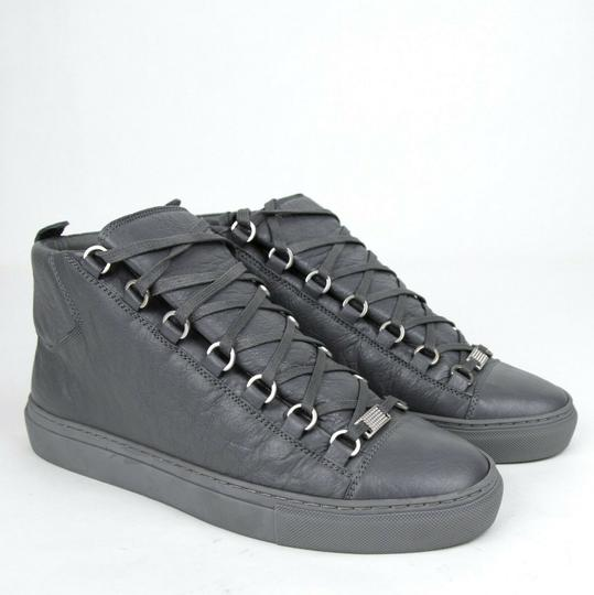 Balenciaga Dark Gray Men's Leather Arena Hi-top Sneaker 43/Us 10 412381 1505 Shoes Image 4