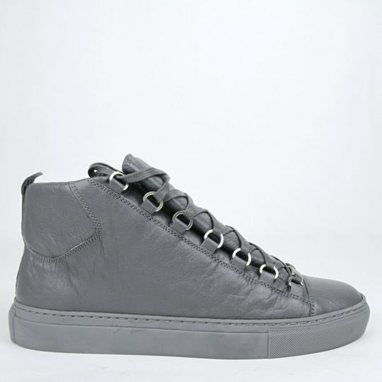 Balenciaga Dark Gray Men's Leather Arena Hi-top Sneaker 43/Us 10 412381 1505 Shoes Image 6