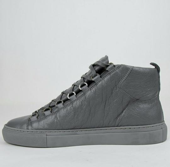 Balenciaga Dark Gray Men's Leather Arena Hi-top Sneaker 43/Us 10 412381 1505 Shoes Image 7