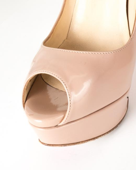 Christian Louboutin Beige Antoinette Clare Nude Patent