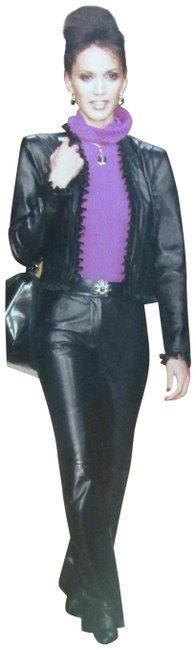 Item - Black Collection Ruffle Trim Classic Jacket Size 6 (S)