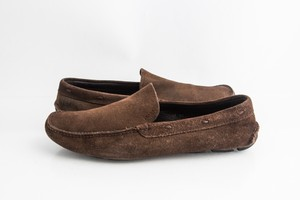 Prada Brown Classic Suede Loafers Shoes