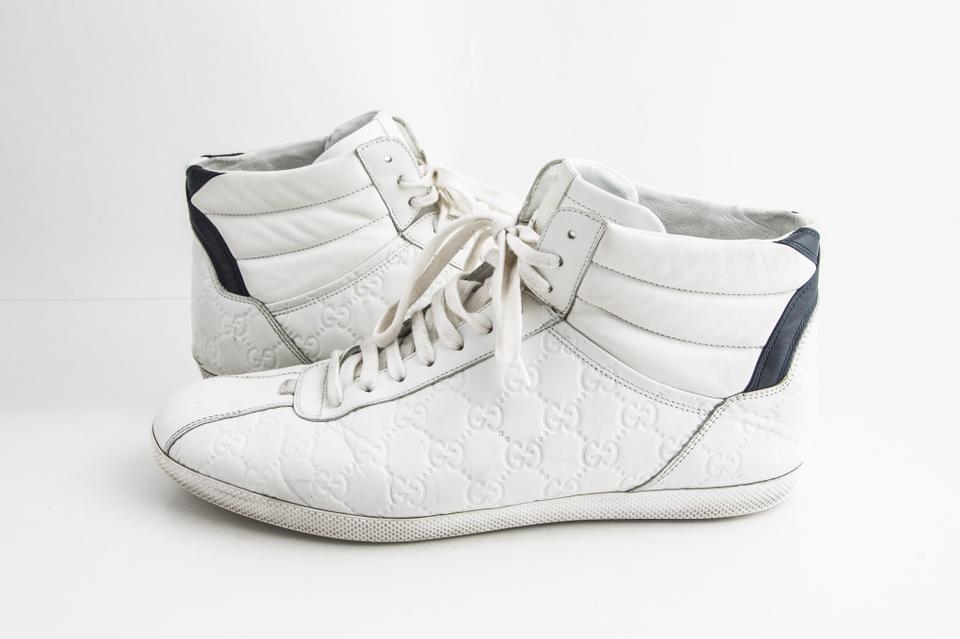 Gucci White Signature High,top Sneaker Shoes 44% off retail