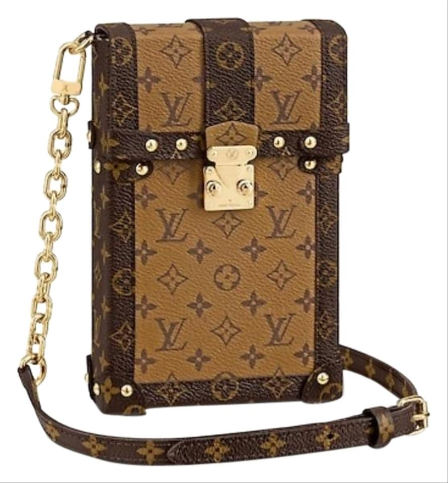 Louis Vuitton Pochette Trunk Verticale Havana Brown Monogram Canvaonogram Reverse Canvas Cross Body Bag