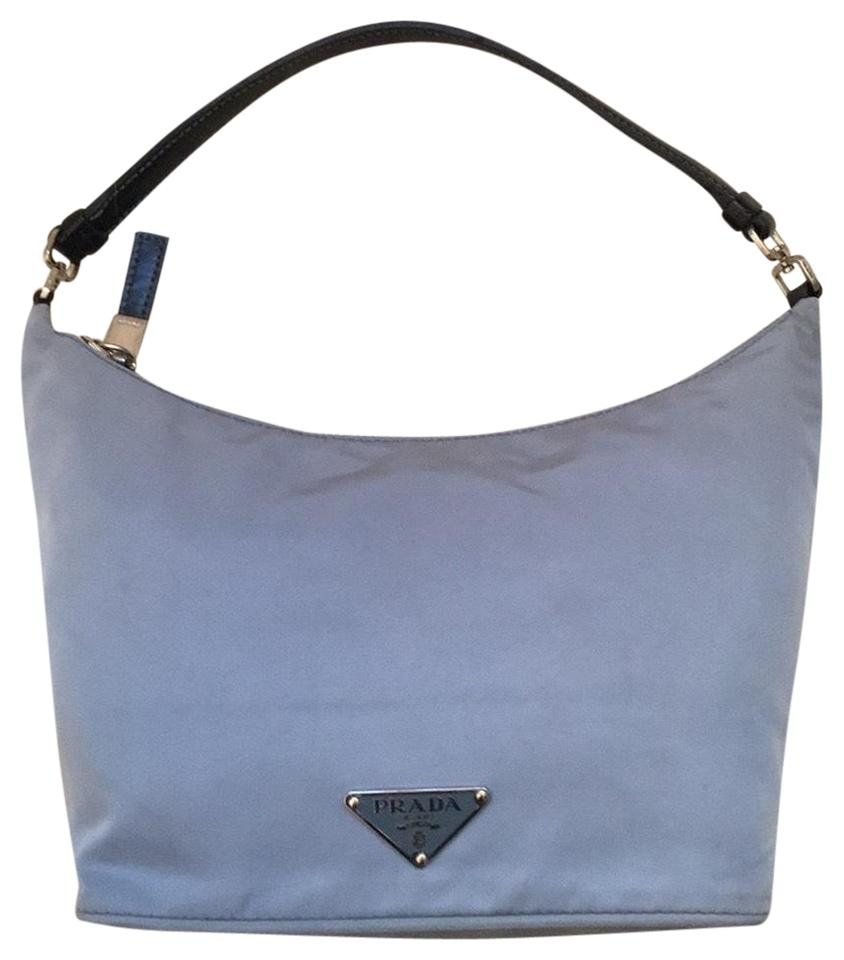 dee2b0e5f31464 Prada Tessuto Sirio Light Blue Nylon Shoulder Bag - Tradesy