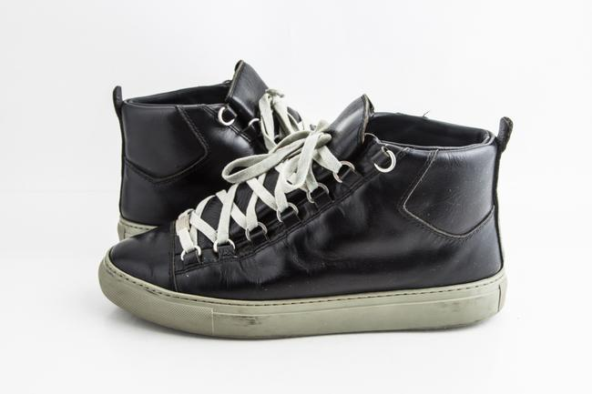 Item - Black Leather Arena High Top Sneakers Shoes