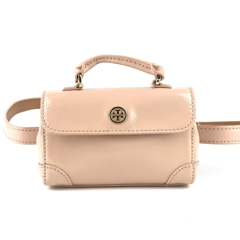 96cb622d496 Tory Burch Robinson Waistpack Pink Patent Leather Weekend/Travel Bag 27%  off retail