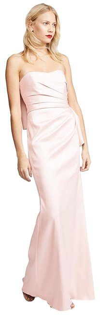 Item - Pink Bow Back Gown Long Formal Dress Size 6 (S)