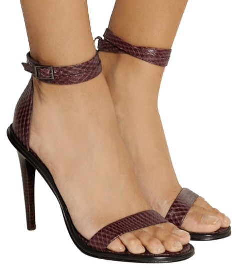 Preload https://img-static.tradesy.com/item/25393440/tibi-burgundy-amber-snake-effect-leather-sandals-size-us-75-regular-m-b-0-2-540-540.jpg
