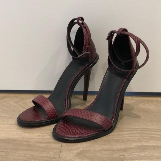 Tibi Burgundy Sandals Image 1