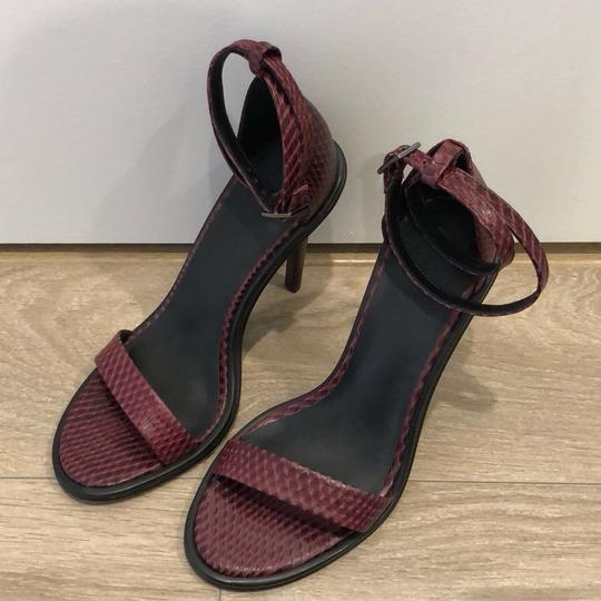 Tibi Burgundy Sandals Image 2