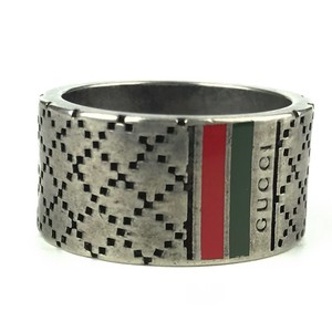 Gucci GUCCI 295674 Diamantissima With Web Detail Ring Sz 9-1/2