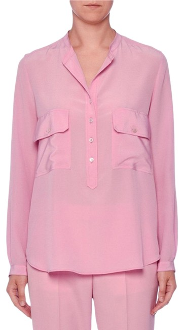 Preload https://img-static.tradesy.com/item/25393586/stella-mccartney-two-pocket-button-placket-long-sleeve-silk-blouse-size-14-l-0-1-650-650.jpg