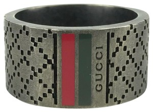 Gucci GUCCI 295674 Diamantissima With Web Detail Ring Sz 10-1/4