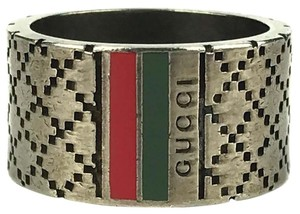 Gucci GUCCI 295674 Diamantissima With Web Detail Ring Sz 8-3/4