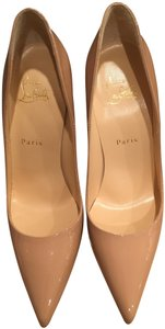 Christian Louboutin So Kate Patent Leather Nude Pumps