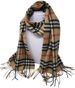 Burberry Beige brown multicolor Burberry Nova Check cashmere scarf
