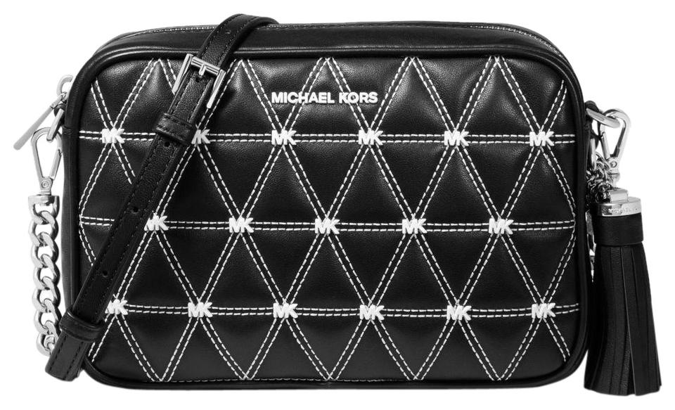 db564a3e42f1 Michael Kors Ginny Medium Quilted Black Leather Cross Body Bag - Tradesy