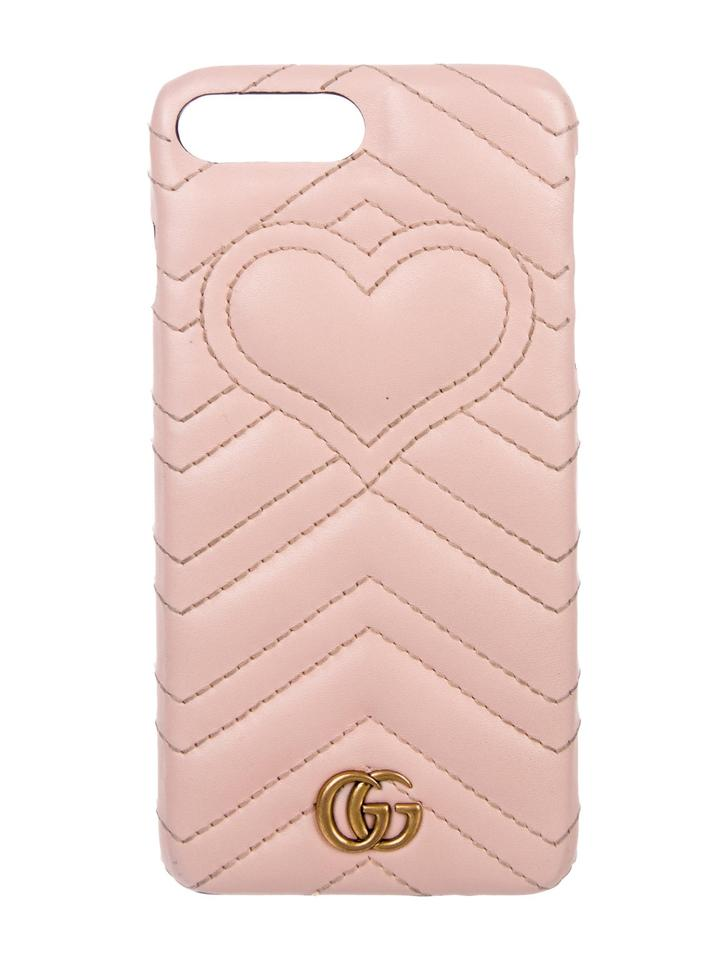 newest 01000 38742 Gucci Pink Marmont Leather Iphone 8 Plus Case Tech Accessory