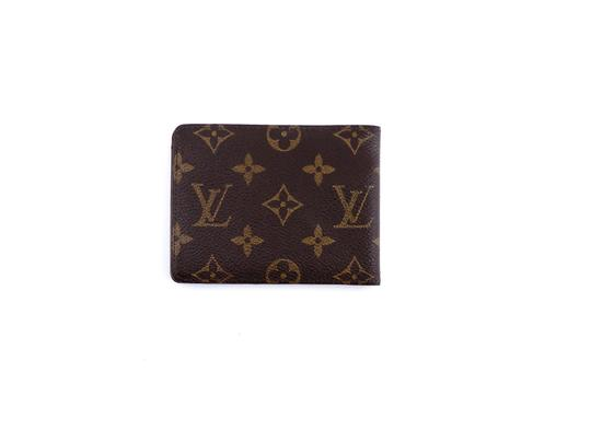 Louis Vuitton Multiple Monogram Canvas Leather Bifold Mens Wallet France Image 1